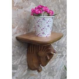 Lovas polc virágtartó lovasajándék